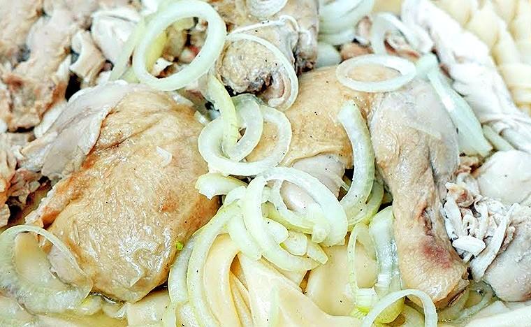 Бешбармак из курицы по-казахски