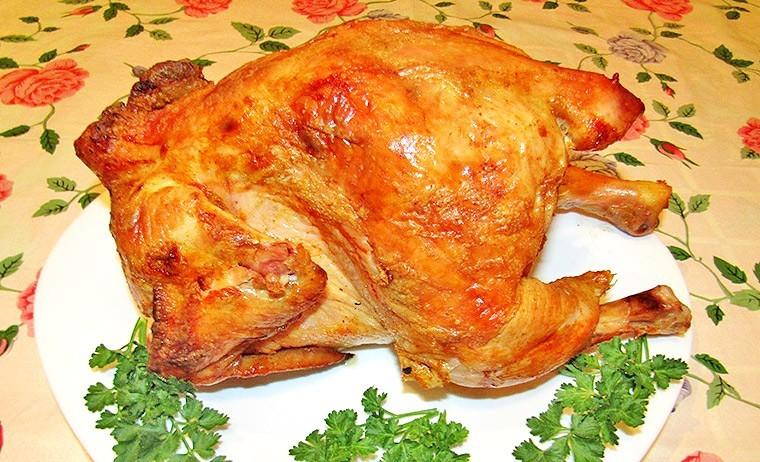 Курица на пивной банке в духовке